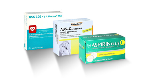 Schmerzmittel: Aspirin Tabletten