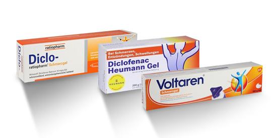Schmerzsalben mit Diclofenac