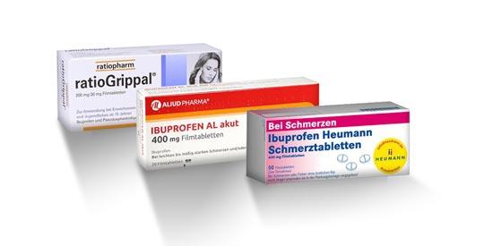 Schmerzmittel: Ibuprofen Heumann, ratiogrippal