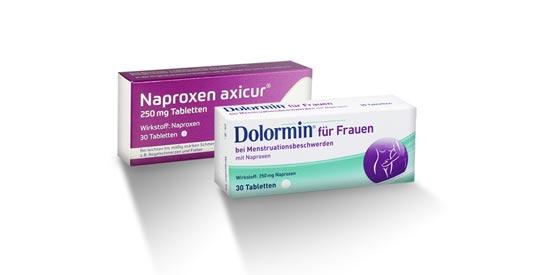 Schmerzmittel: Zwei Präparate mit Naproxen