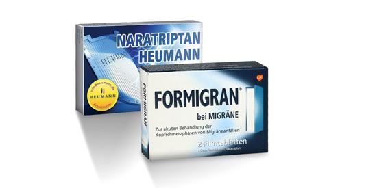 Schmerzmittel: Formigran und Naratriptan