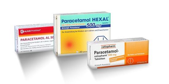 Schmerzmittel: Paracetamol Tabletten