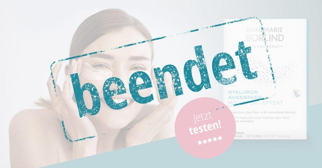 Produkttest Annemarie Börlind Hyluron Augenpads